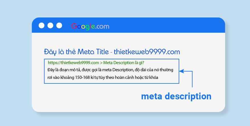 Meta description cực kỳ quan trọng đối với SEO onpage