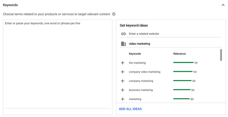 Nhắm mục tiêu quảng cáo video youtube